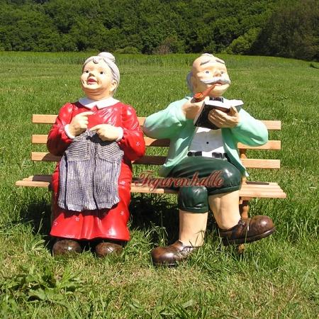 Figurenhalle Rentner Opa Und Oma Auf Bank Figuren