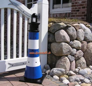 Leuchtturm Blau Weiß Maritime Garten Dekoration